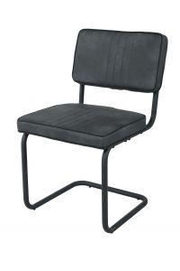 Lot de 2 chaises Pierre - gris foncé