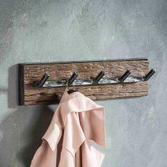 Portemanteau Anais 5 crochets industriel - bois dur