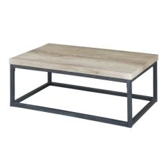 Table basse Hector 100cm - chêne sonoma/noir