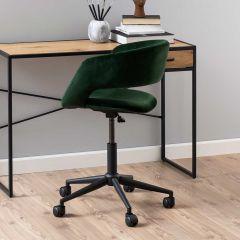 Chaise de bureau Dusty - vert forêt/noir