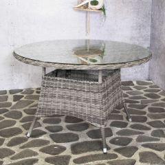 Table de jardin Ceylin Ø120cm - gris