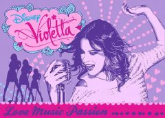 Tapis Violetta - Love music