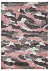 Tapis Camouflage 230x160 Enfants - Rose