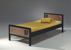 Lit enfant Alex Industriel 90x200 cm - brun/noir