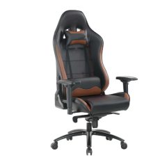Chaise de gaming Pär - noir/brun