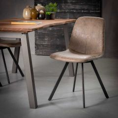 Lot de 4 chaises Valentina - brun