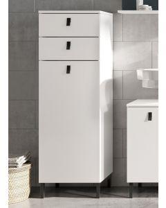 Armoire de salle de bains Tucker 39cm avec 2 tiroirs & porte - blanc