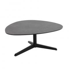 Table basse Bartos 84x77 céramique - noir