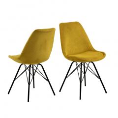 Lot de 2 chaises Erin - jaune