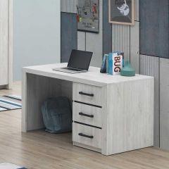Bureau Elvira 130cm - chêne blanc