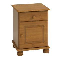 Table de chevet Ramund 1 porte & 1 tiroir - brun