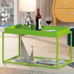 Table basse Club 80x45 métal - vert