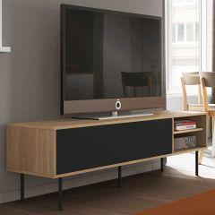 Meuble TV Watt 165cm - chêne/noir