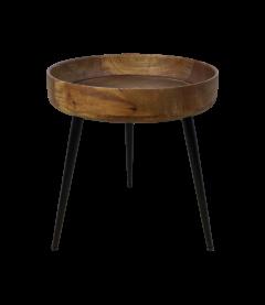 Table d'appoint Ventura - ø40 cm - bois de manguier / fer - naturel