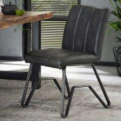 Set de 2 chaises Bridge - anthracite