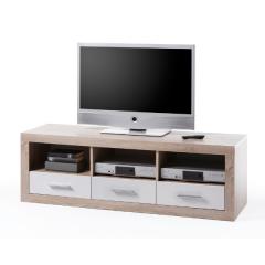 Meuble tv Brekalo 147 cm - chêne sonoma/blanc