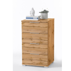 Table de chevet Nacho 46cm avec 4 tiroirs - chêne sauvage
