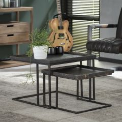 Set de 2 tables basses Lima 58x58