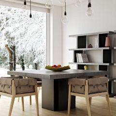 Table à manger Dust - 150x150 cm