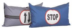 Lot de 2 grands coussins - Carwash