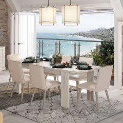 Table à manger extensible Mentor 180/228cm - chêne helvézia blanchi