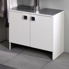 Meuble sous lavabo Artem 59cm avec 2 portes - blanc