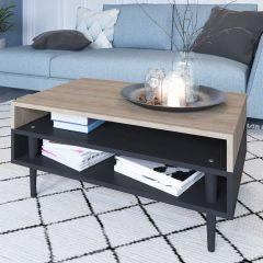 Table basse Horizon - chêne/noir