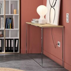 Table d'appoint Chams 120cm - chêne/chrome