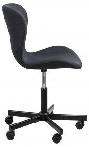 Chaise de bureau Tilda - anthracite/noir