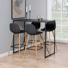 Table de bar Dover 60x120 - noir