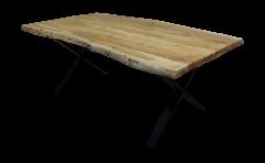 Table de repas SoHo - 220x100 cm - acacia / fer