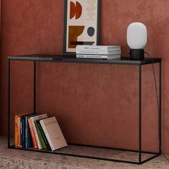 Console Gleam - marbre noir/acier