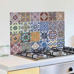 Sticker mural Carreaux revêtement mural pour cuisine - multi