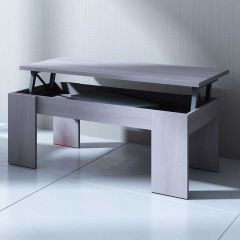 Table basse Ramos avec plateau relevable - frêne gris