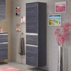 Colonne Lotuk basse avec 2 portes & 1 tiroir - chêne gris