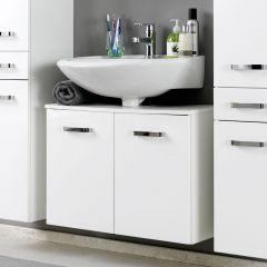Meuble sous lavabo Bobbi 70cm 2 portes - blanc