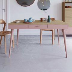 Table Horizon 134x85 - chêne/rose