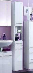 Colonne salle de bains Small 25cm 1 tiroir & 2 portes - blanc brillant