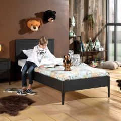 Lit Azalea 90x200 cm - brun/noir
