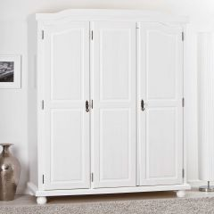 Garde-robe Bastian 150cm avec 3 portes - blanc