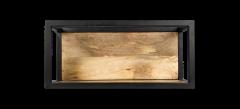 Boite murale Niveaux - 55x25 cm - bois de manguier / fer