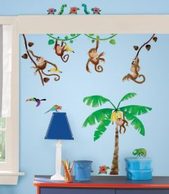 RoomMates stickers muraux Jungle de singes