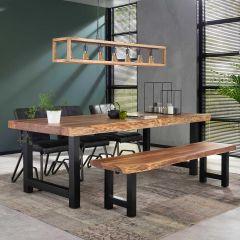 Table à manger Penelope 240x100 industriel - acacia