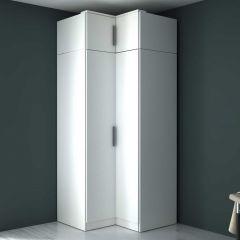 Armoire d'angle Ramos 90cm avec 2 portes - blanc
