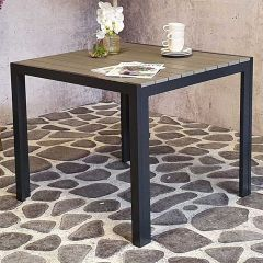 Table de jardin Jersey 90x90 – anthracite