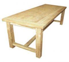 Table monastère - 240x100 cm - naturel - teck