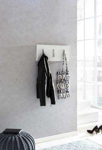 Portemanteau Gilles 3 crochets - blanc