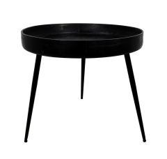 Table d'appoint Ventura - ø60 cm - noir - mangue / fer