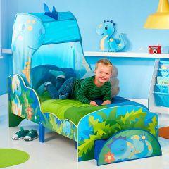 Lit junior à baldaquin avec tiroir Happy Dino