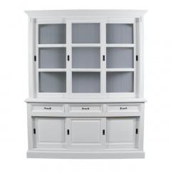 Buffet Provence - 180 cm - blanc / gris